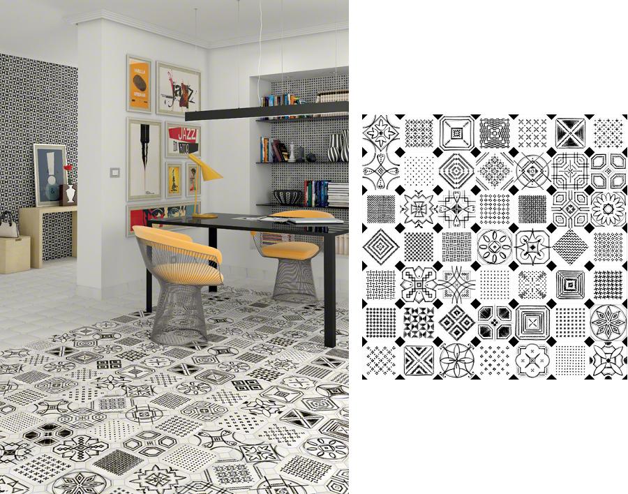 Wzór patchworków na płytkach -> Kuchnia Plytki Vives