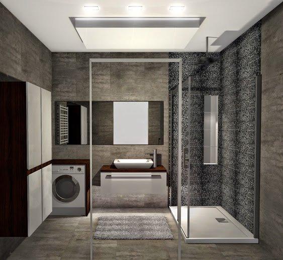 Projekt łazienki z płytkami i ceramiką z Dekordia.pl i nie tylko