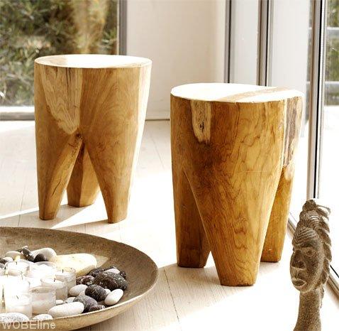 ręcznie wykonane stoliki z drewna