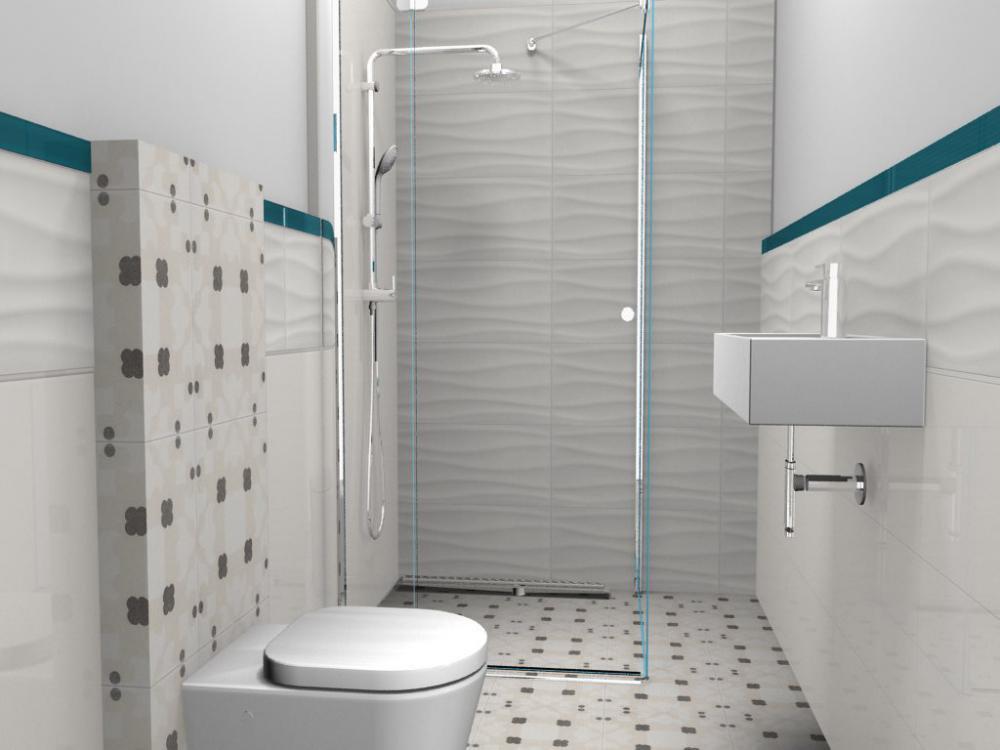 Łazienka płytki 3d, zdjęcie 1